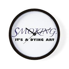 Cute Stop smoking Wall Clock