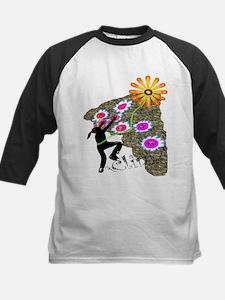 Young Girl Flower Climber Kids Baseball Jersey
