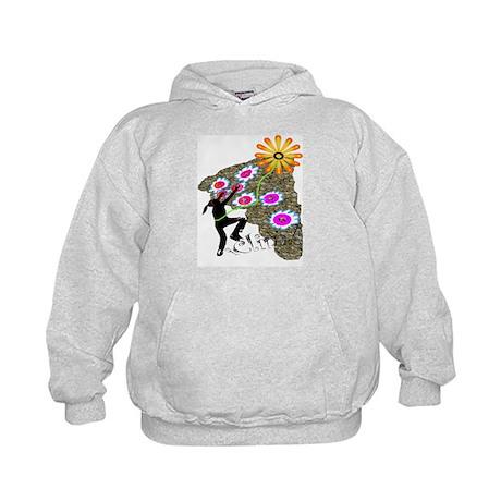 Young Girl Flower Climber Kids Hoodie