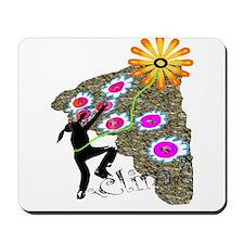 Young Girl Flower Climber Mousepad