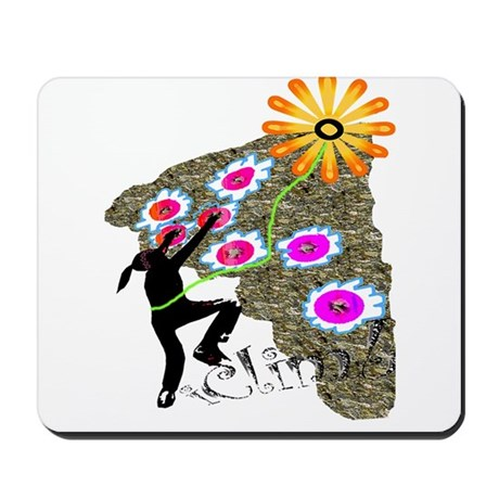 Young Girl Flower Climber Mousepad