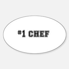 #1 Chef Decal