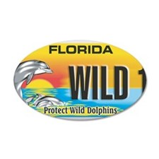 License Plate Dolphin Wall Decal