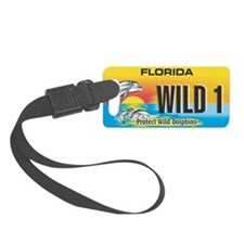 License Plate Dolphin Luggage Tag