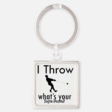 throw Square Keychain