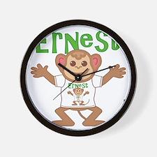 ernest-b-monkey Wall Clock
