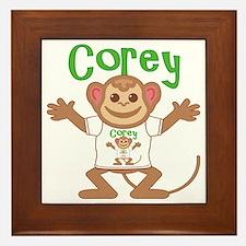 corey-b-monkey Framed Tile