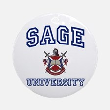 SAGE University Ornament (Round)