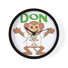 don-b-monkey Wall Clock