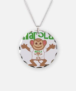 harold-b-monkey Necklace Circle Charm