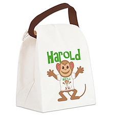 harold-b-monkey Canvas Lunch Bag