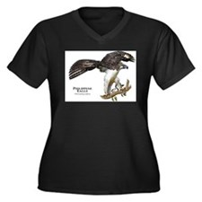 Philippine Eagle Women's Plus Size V-Neck Dark T-S
