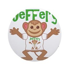 jeffery-b-monkey Round Ornament