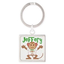 jeffery-b-monkey Square Keychain