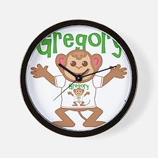 gregory-b-monkey Wall Clock