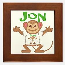 jon-b-monkey Framed Tile