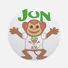 jon-b-monkey Round Ornament