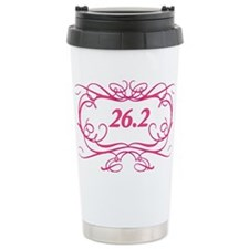26.2 with border Travel Mug