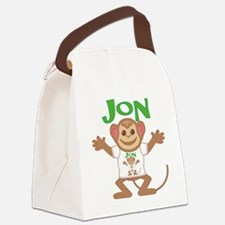 jon-b-monkey Canvas Lunch Bag