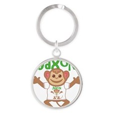 jaxon-b-monkey Round Keychain