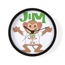jim-b-monkey Wall Clock