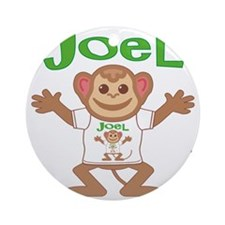 joel-b-monkey Round Ornament