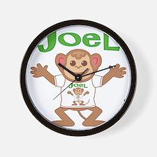 joel-b-monkey Wall Clock