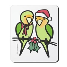 lovebirds_santa Mousepad