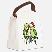 lovebirds_santa Canvas Lunch Bag