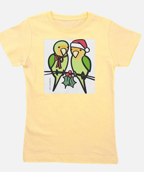 lovebirds_santa Girl's Tee