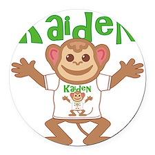 kaiden-b-monkey Round Car Magnet