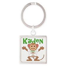 kaiden-b-monkey Square Keychain