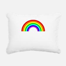 sundayfundayrainbowwhite Rectangular Canvas Pillow