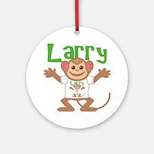 larry-b-monkey Round Ornament