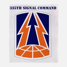 SSI -335TH SIGNAL COMMAND WITH TEXT Throw Blanket