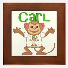 carl-b-monkey Framed Tile