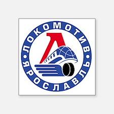 "Lokomotive round Square Sticker 3"" x 3"""