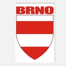 Brno COA (red) Postcards (Package of 8)
