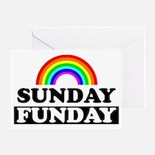sundayfundayrainbow Greeting Card