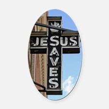 6774 Jesus Sign Oval Car Magnet
