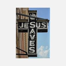 6774 Jesus Sign Rectangle Magnet