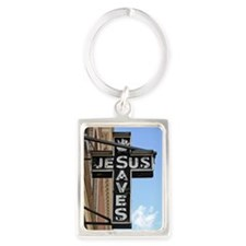 6774 Jesus Sign Portrait Keychain