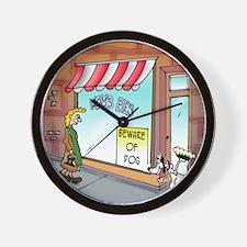 4741_dog_cartoon Wall Clock
