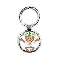 clifford-b-monkey Round Keychain