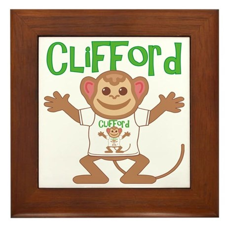 clifford-b-monkey Framed Tile