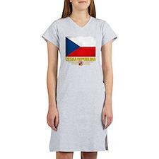 Czech Republic (Flag 10) Women's Nightshirt