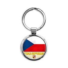 Czech Republic (Flag 10) Round Keychain