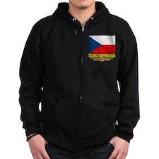 Czech Republic (Flag 10) Zip Hoodie