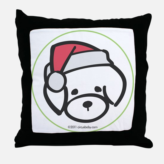 bichon_orn Throw Pillow