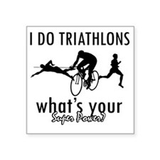 "triathlons Square Sticker 3"" x 3"""